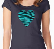 0205 Dark Turquoise Tiger Women's Fitted Scoop T-Shirt