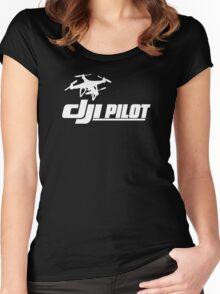 DJI Pilot Drone Women's Fitted Scoop T-Shirt