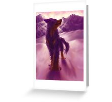 Hovawart Dog in the Mountains Greeting Card