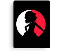 Pokemon Serena Silhouette Canvas Print
