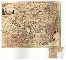 American Revolutionary War Era Maps 1750-1786 303 An Accurate map of the present seat of war between Great Britain and her colonies in North America Poster