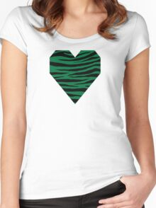 0207 Dartmouth Green Tiger Women's Fitted Scoop T-Shirt