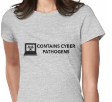 Contains Cyber Pathogens  Womens Fitted T-Shirt