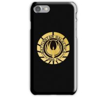 Battlestar Galactica Golden Logo iPhone Case/Skin
