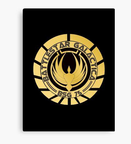 Battlestar Galactica Golden Logo Canvas Print