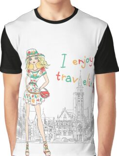 Beautiful fashion girl in Bruges Graphic T-Shirt
