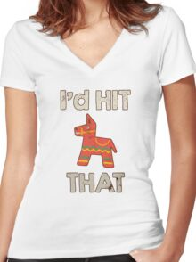 I'd Hit That Women's Fitted V-Neck T-Shirt