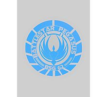 Battlestar Pegasus Logo Photographic Print