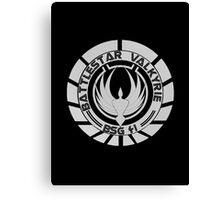 Battlestar Valkyrie Logo Canvas Print