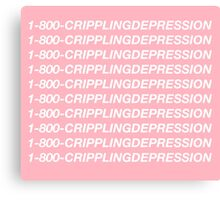 Hotline Bling - 1-800-CRIPPLINGDEPRESSION Canvas Print