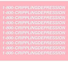 Hotline Bling - 1-800-CRIPPLINGDEPRESSION Photographic Print