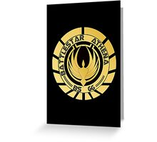 Battlestar Athena Golden Logo Greeting Card