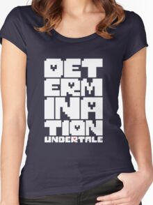 Undertale - Determination Women's Fitted Scoop T-Shirt