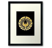 Battlestar Atlantis Golden Logo Framed Print