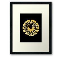 Battlestar Celestial Golden Logo Framed Print