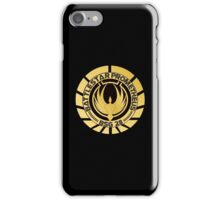 Battlestar Prometheus Golden Logo iPhone Case/Skin