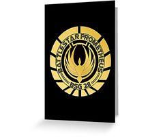 Battlestar Prometheus Golden Logo Greeting Card