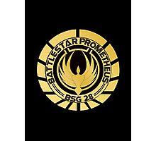Battlestar Prometheus Golden Logo Photographic Print
