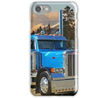 Blue peterbilt conventional. iPhone Case/Skin