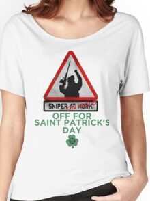 Sniper on hold - Saint Patrick's day Women's Relaxed Fit T-Shirt