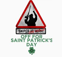 Sniper on hold - Saint Patrick's day T-Shirt