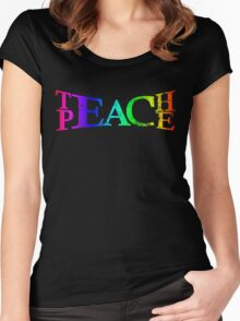 TEACH PEACE Women's Fitted Scoop T-Shirt