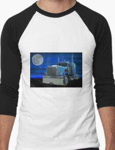 Peterbilt in the Moonlight Men's Baseball ¾ T-Shirt