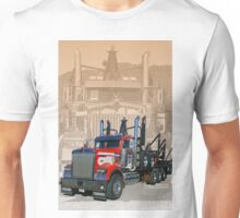 Logging truck abstract Unisex T-Shirt