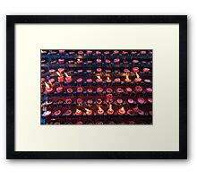 Burning Candles of Santa Nino Basilica Framed Print