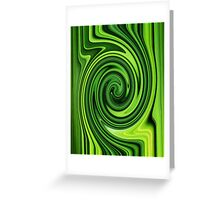 Green Grass Swirl Abstract Greeting Card