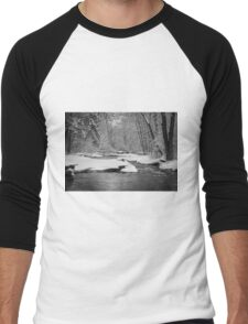 Winter At Brainards Bridge Park 2016-1 Men's Baseball ¾ T-Shirt