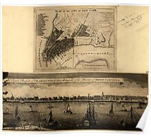 American Revolutionary War Era Maps 1750-1786 774 Plan of the city of New York An exact prospect of Charlestown the metropolis of the province of South Poster