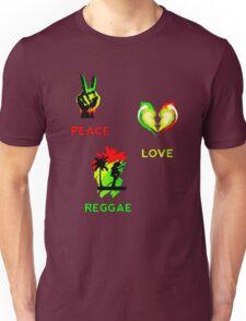 Peace, Love, Reggae Unisex T-Shirt