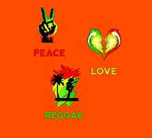 Peace, Love, Reggae Unisex T-Shirt