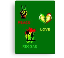 Peace, Love, Reggae Canvas Print