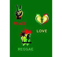 Peace, Love, Reggae Photographic Print
