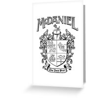 McDaniel family crest / heraldic shield / coat of arms Greeting Card