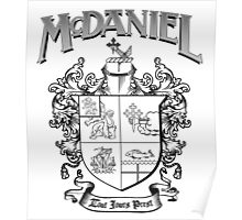McDaniel family crest / heraldic shield / coat of arms Poster