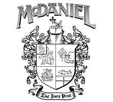 McDaniel family crest / heraldic shield / coat of arms Photographic Print
