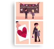 Once Upon a Valentines Day Canvas Print