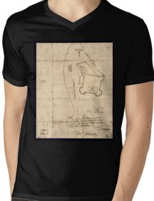 American Revolutionary War Era Maps 1750-1786 864 Sir This is minuts of the fort at Crown Point and of the redouts built round it which I took on the mountain Mens V-Neck T-Shirt