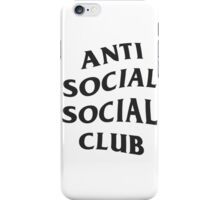 Anti Social Social Club - Black iPhone Case/Skin
