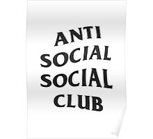 Anti Social Social Club - Black Poster