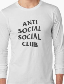 Anti Social Social Club - Black Long Sleeve T-Shirt