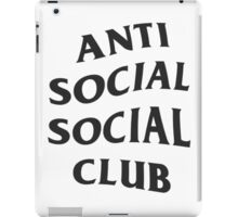 Anti Social Social Club - Black iPad Case/Skin
