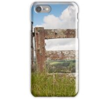 Gate and Fence Rural by Will Baff iPhone Case/Skin