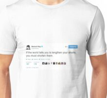"Gerard Way ""lengthen/shorten short"" tweet Unisex T-Shirt"