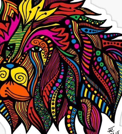 Psychedelic Cecil: A Tribute Sticker