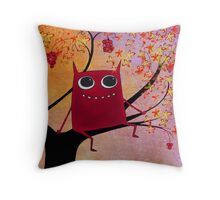 happy monsters Throw Pillow