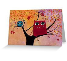 happy monsters Greeting Card